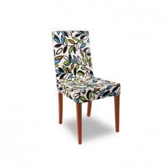 Kombin Sandalye | Ceviz Ayak | Turkuaz & Yeşil Desenli