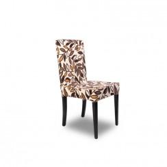 Kombin Sandalye |  Siyah Ayak | Kahverengi & Krem Desenli