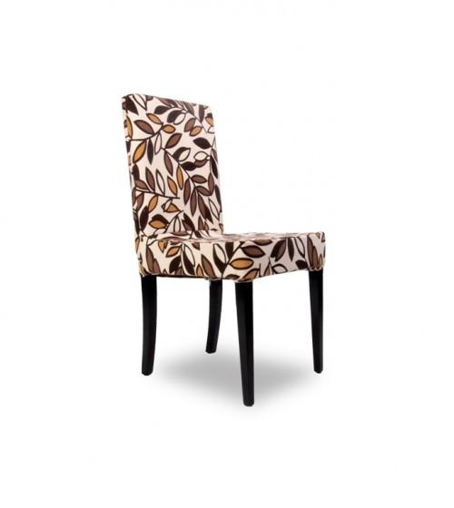Kombin Sandalye    Siyah Ayak   Kahverengi & Krem Desenli