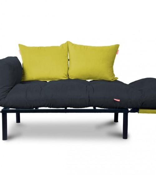 Kombin Kanepe, Siyah | Koyu Gri | Sarı